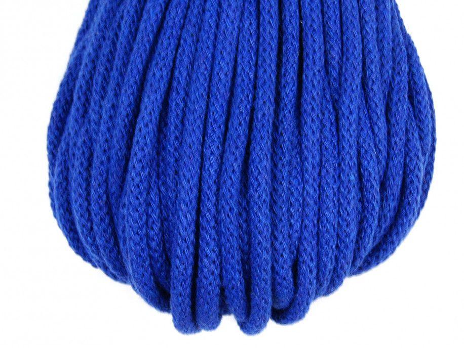 sznurek bawełniany 5mm -chabrowy