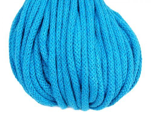 sznurek bawełniany 5mm turkusowy