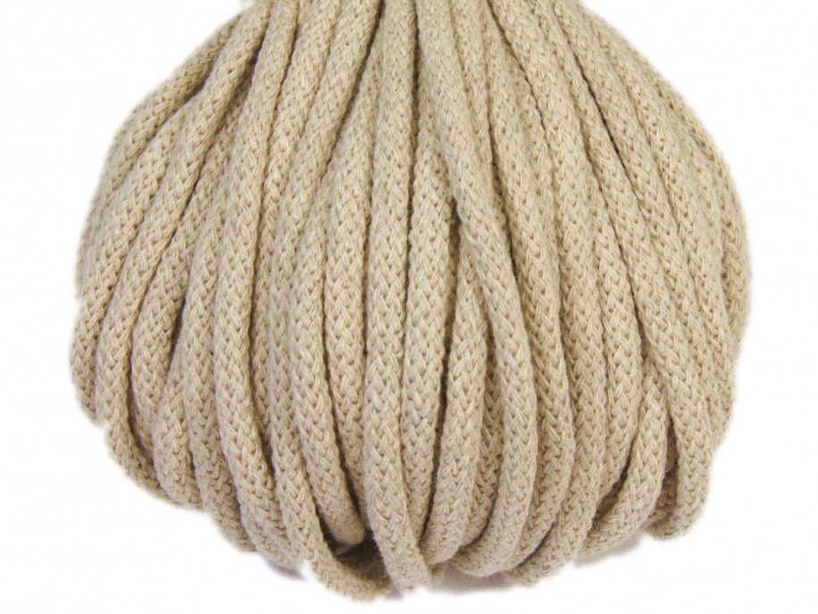 sznurek bawełniany 5mm -beżowy