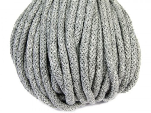 sznurek bawełniany 5mm -szary