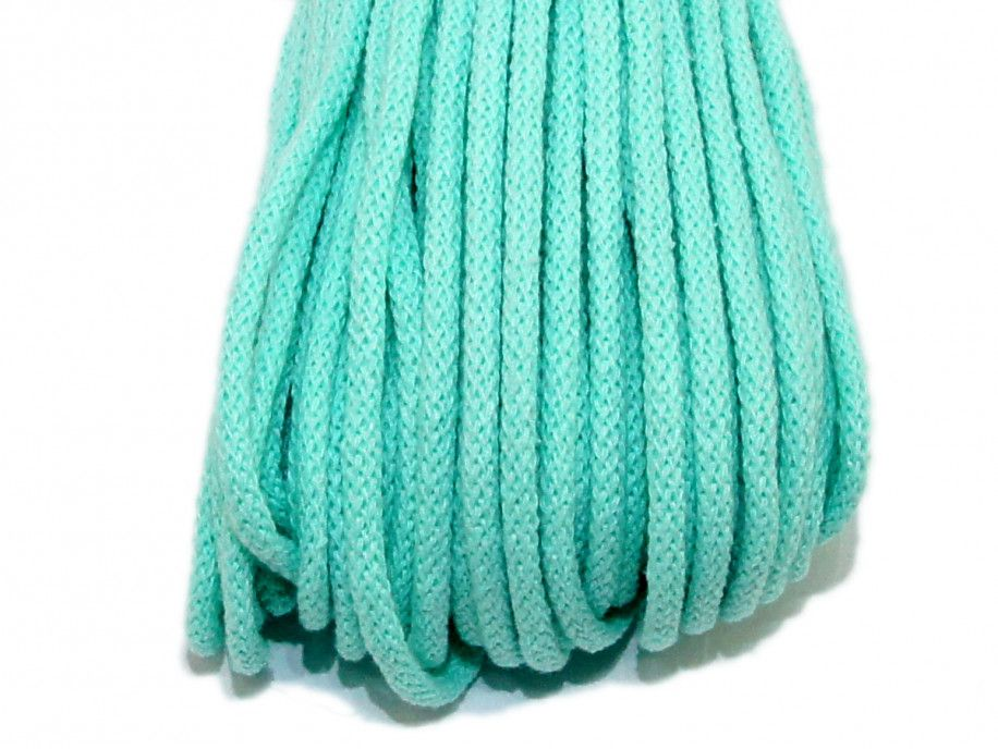 sznurek bawełniany 5mm miętowy