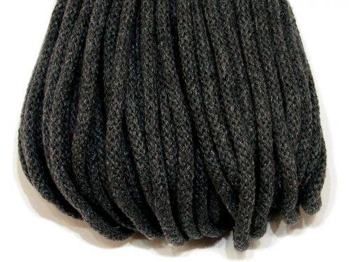 sznurek bawełniany 5mm -grafitowy
