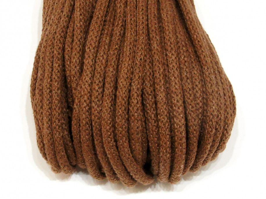sznurek bawełniany 5mm brązowy jasny