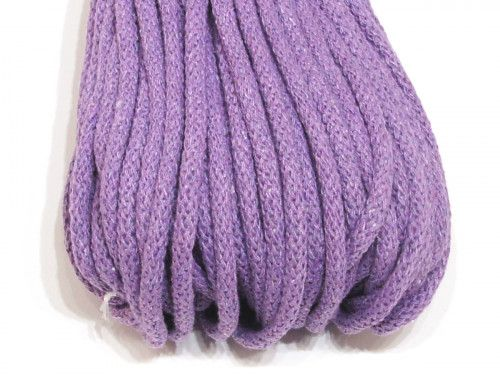 sznurek bawełniany 5mm fioletowy jasny