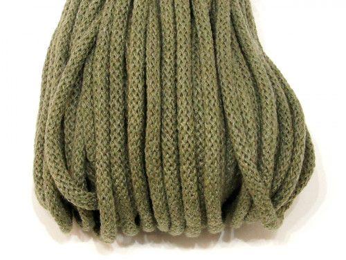 sznurek bawełniany 5mm khaki