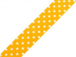 wstążka samoprzylepna kropki żółta