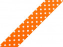 wstążka samoprzylepna kropki pomarańczowa