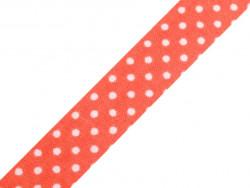wstążka samoprzylepna kropki czerwona