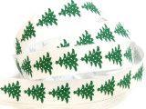 wstążka bawełniana choinki zielone