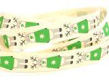 wstążka bawełniana renifer zielony