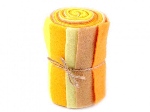 filc dekoracyjny zestaw żółty