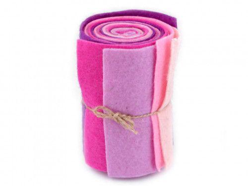 filc dekoracyjny zestaw różowy