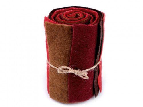 filc dekoracyjny zestaw czerwony