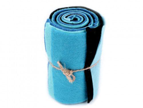 filc dekoracyjny zestaw niebieski