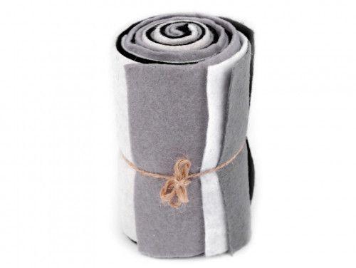 filc dekoracyjny zestaw szary