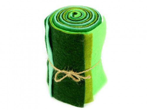 filc dekoracyjny zestaw zielony