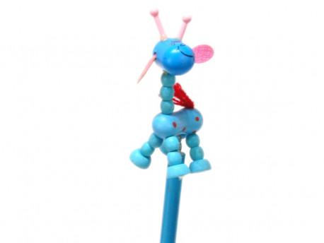 ołówek żyrafa niebieska