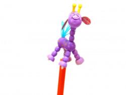 ołówek żyrafa fioletowa