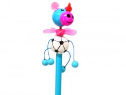 ołówek nosorożec niebieski z wiatraczkiem