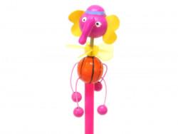 ołówek słoń różowy z wiatraczkiem