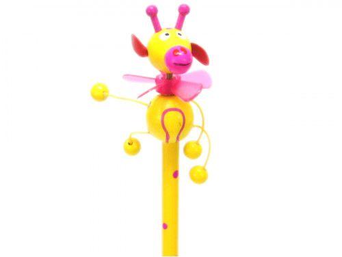 ołówek żyrafa żółta z wiatraczkiem