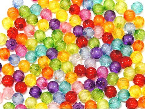 koraliki akrylowe kuleczki mix kolorów