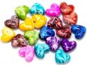 koraliki akrylowe serca mazaje mix