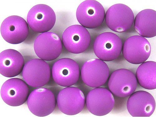 koraliki akrylowe neonowe fioletowe