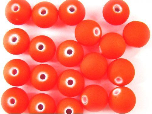 koraliki akrylowe neonowe pomarańczowe