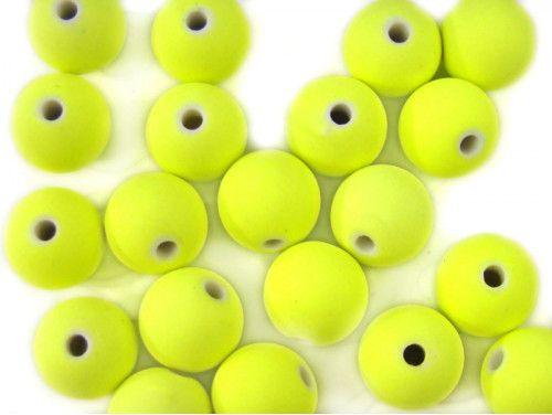 koraliki akrylowe neonowe żółte