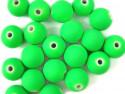 koraliki akrylowe neonowe zielone