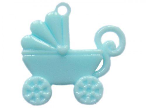 zawieszka plastikowa wózek niebieski