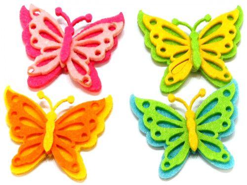 motylki z filcu 4szt samoprzylepne