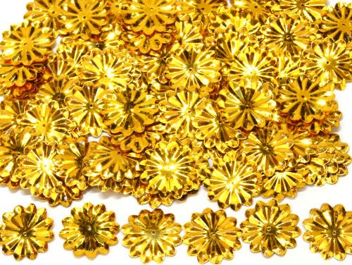 cekiny słońca z promieniami złote
