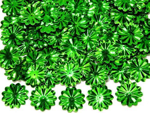 cekiny słońca z promieniami zielone