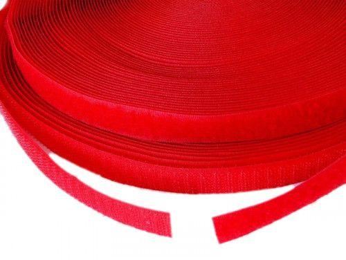 Taśma rzep 16 mm czerwona