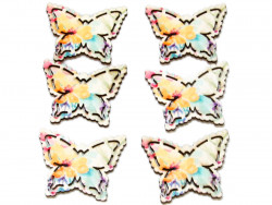 ozdoba drewniana motyl 6szt z przylepcem