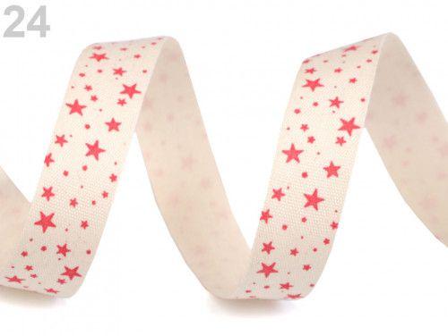 wstążka bawełniana gwiazdki czerwone