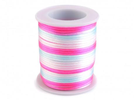 sznurek satynowy 2 mm shamballa kolorowy