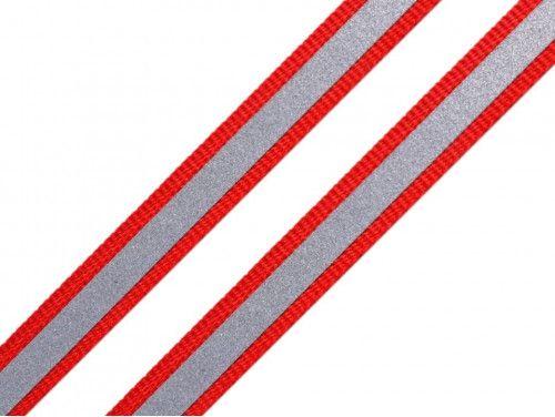 taśma nośna 10 czerwona z odblaskiem