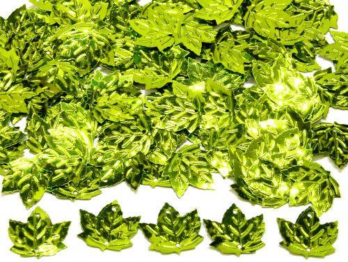 cekiny liście seledynowe