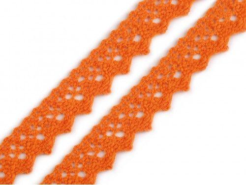koronka bawełniana 20 mm pomarańczowa