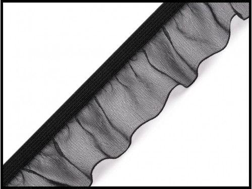 guma z falbanką 25mm czarna
