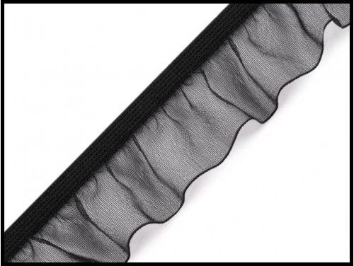 guma z falbanką czarna