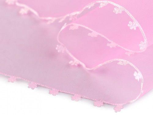 wstążka szyfonowa różowa 11,5 cm
