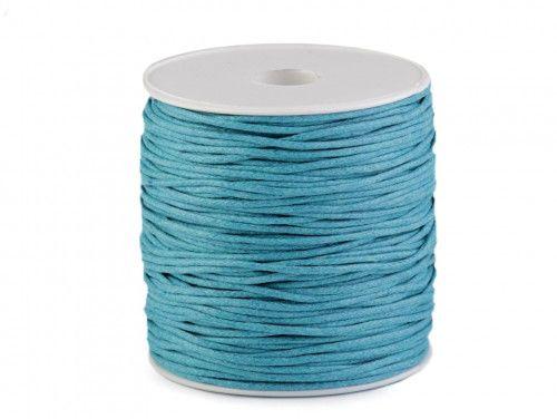 sznurek bawełniany woskowany 2mm turkusowy