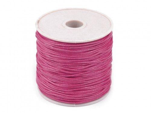 sznurek bawełniany woskowany 2mm malinowy