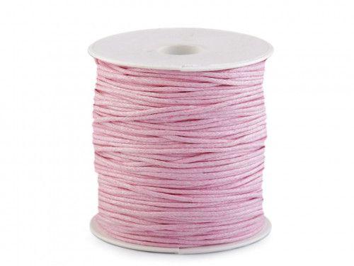 sznurek bawełniany woskowany 2mm jasny róż