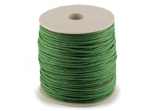 sznurek bawełniany woskowany 2mm zielony