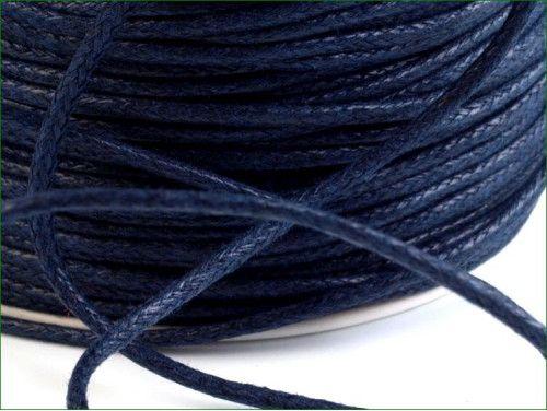 sznurek bawełniany woskowany 2mm granatowy